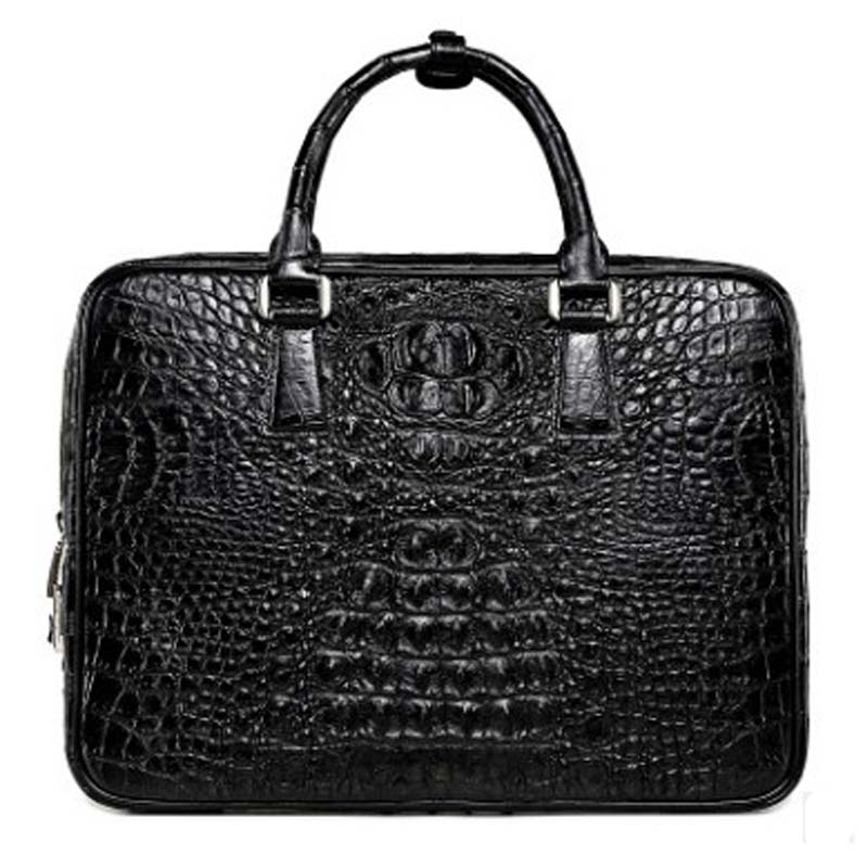 LINSHE Crocodile Man Bags Handbag The Crocodile Leather Bag Business Leisure Handbag On A Business Trip Big Bag A Briefcase