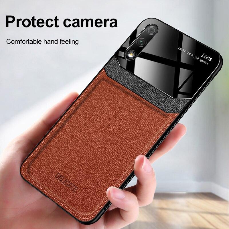 Роскошный кожаный чехол для телефона Huawei Honor V 20 10 9 8 20i 9X 8X Pro Lite Play 3, Ультратонкий силиконовый чехол из оргстекла