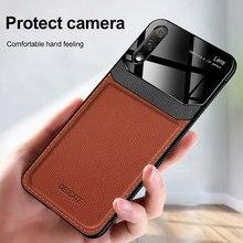 Étui pour huawei de téléphone en cuir de luxe Honor V 20 10 9 8 20i 9X 8X Pro Lite Play 3 Coque de protection en Silicone en plexiglas Ultra-mince