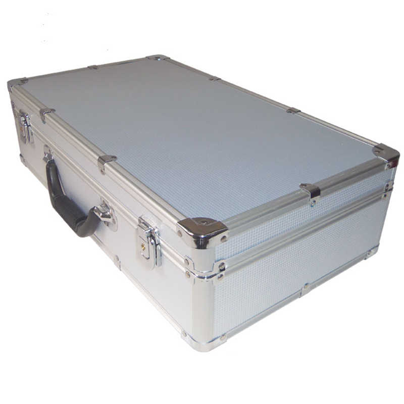 Draagbare Aluminium Gereedschapskist Veiligheid apparatuur Toolbox Instrument box Storage Case Koffer Slagvast Case Met Spons
