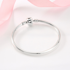 Image 2 - New arrival 100% 925 Sterling Silver Charming Bracelets Charms 2018 Fashion L woman Bracelet Bangles Luxury Jewelry