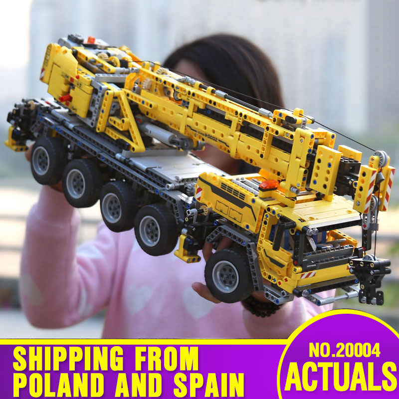 DHL 20004 Technic Car Compatible With <font><b>42009</b></font> Motor Power Mobile Crane Mk II Model Building Blocks Kids Toy Bricks Christmas Gift image