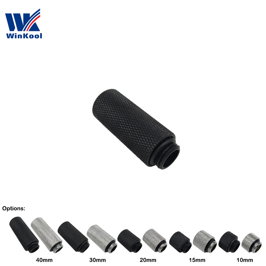 WinKool 10mm 15mm 20mm 30mm 40mm G1/4'' Male To Female Extender Fitting Extended Length