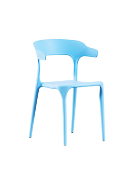 Modern minimalist plastic chair nordic dining chair back chair home creative dining chair cafe casual croissant chair