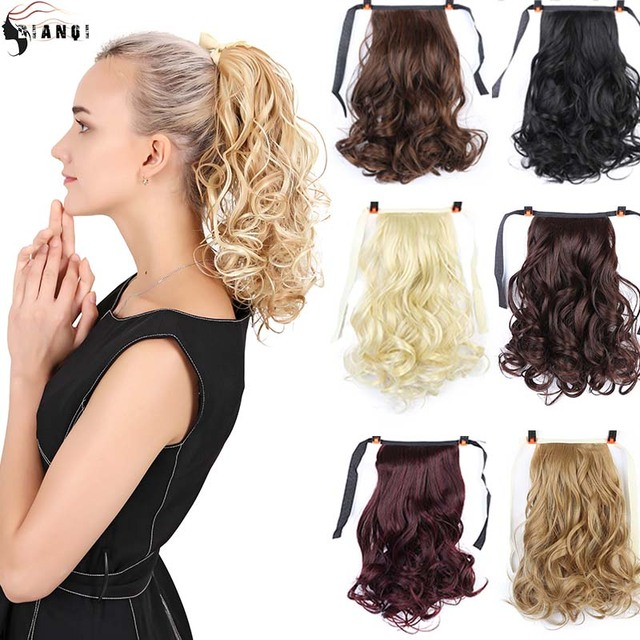 DIANQI  short curly hair natural tail clip in synthetic heat resistant ponytail hair extensions hairpiece for women