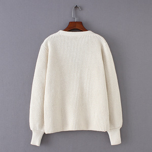 Flectit Cozy Ribbed Knit Cardigan Women V-neck Front Pocket Button Down Dropped Long Sleeve Korean Casual Chic Winter Tops *