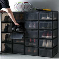 Transparent Shoes Box Sneaker Basketball Shoes Storage Organizer Collection Sundries Cabinet Dustproof Antimoisture Shoes Wall