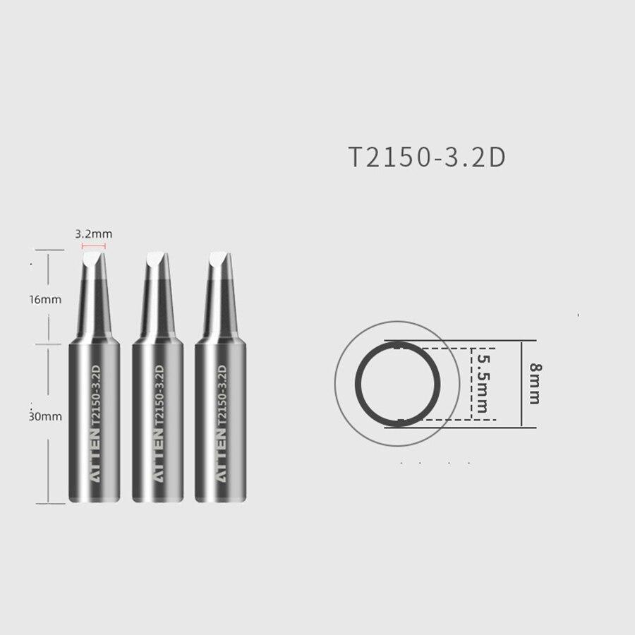 Original ATTEN Soldering Iron Tip Replacement Bit Head K B I 3C 5C 7C 3.2D 4.6D 6.5D Lead Free for ST-2150 ST-2150D 6