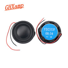 Ghxamp 23mm mini alto-falante de freqüência completa redonda 4ohm 2w longo curso entulho borda 2pcs
