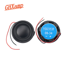 Ghxamp 23mm Mini Fulll Range Loudspeaker 8ohm 2w Long stroke Rubble Edge Round Full Frequency Speaker 2pcs
