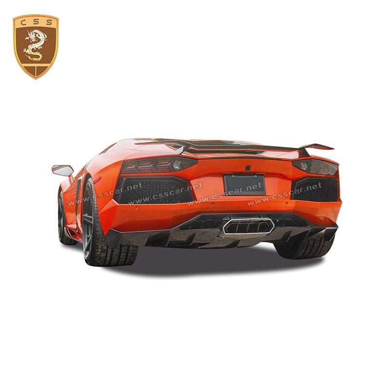 LP700 aileron de coffre d'aile de toit arrière en Fiber de carbone pour Lamborghini Aventador LP750 LP720 2011-2015 Vrosteiner style