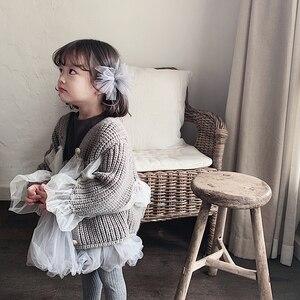 Image 3 - Girlsautumn elbiseler yabancı stil 2020 yeni çocuk prenses Pengpeng elbise ve bebek örgü elbiseler