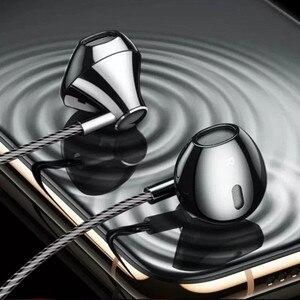 Наушники с тяжелыми басами, наушники-вкладыши для Xiaomi, проводные наушники с микрофоном, регулятор громкости для Huawei iphone Phone