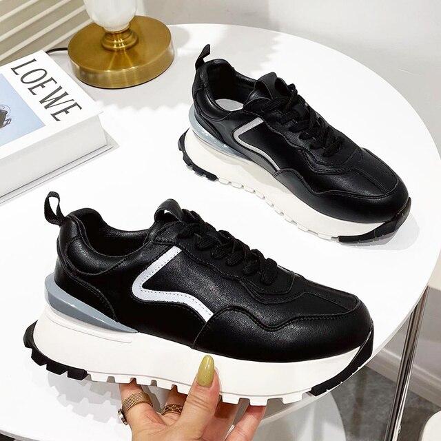 Женские кроссовки на платформе 6