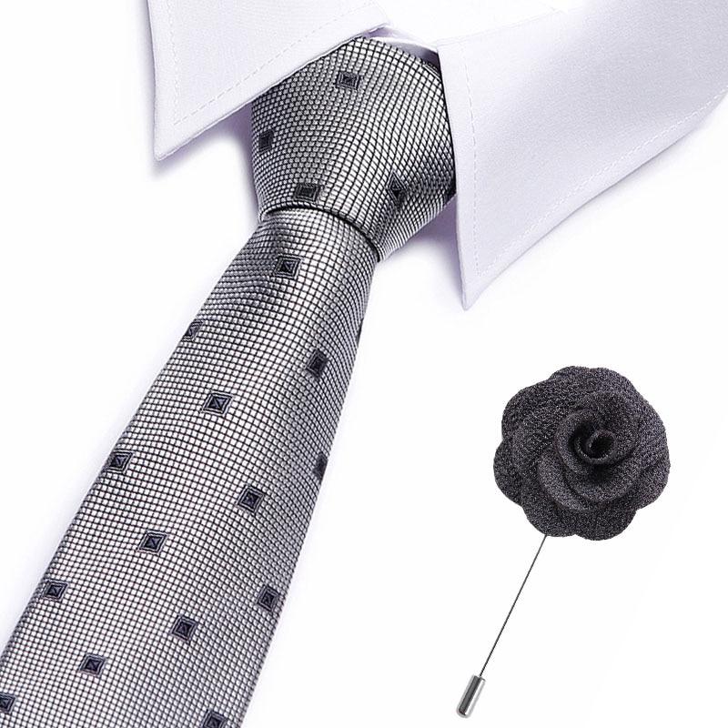 Fashion Neckties Classic Men's Stripe Wedding Ties Jacquard Woven 7.5 Cm100% Silk Men Solid Tie Polka Dots Neck Ties Accessories