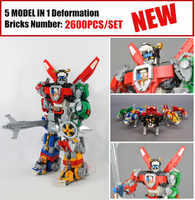 New Deformation Ideas Robot Fit Legoings Voltron Defender of The Universe Figures Building Blocks Bricks Toy Kid Gift Birthday