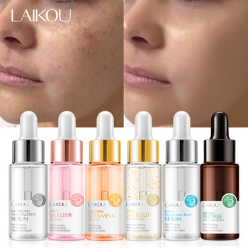 LAIKOU Sakura Face Serum Anti-Aging Hyaluronic Acid 24K Gold Whitening Vitamin C Care Face Essence For The Normal Skin TSLM1 laikou serum japan sakura essence anti aging hyaluronic acid pure 24k gold whitening vitamin c the ordinary skin care face serum