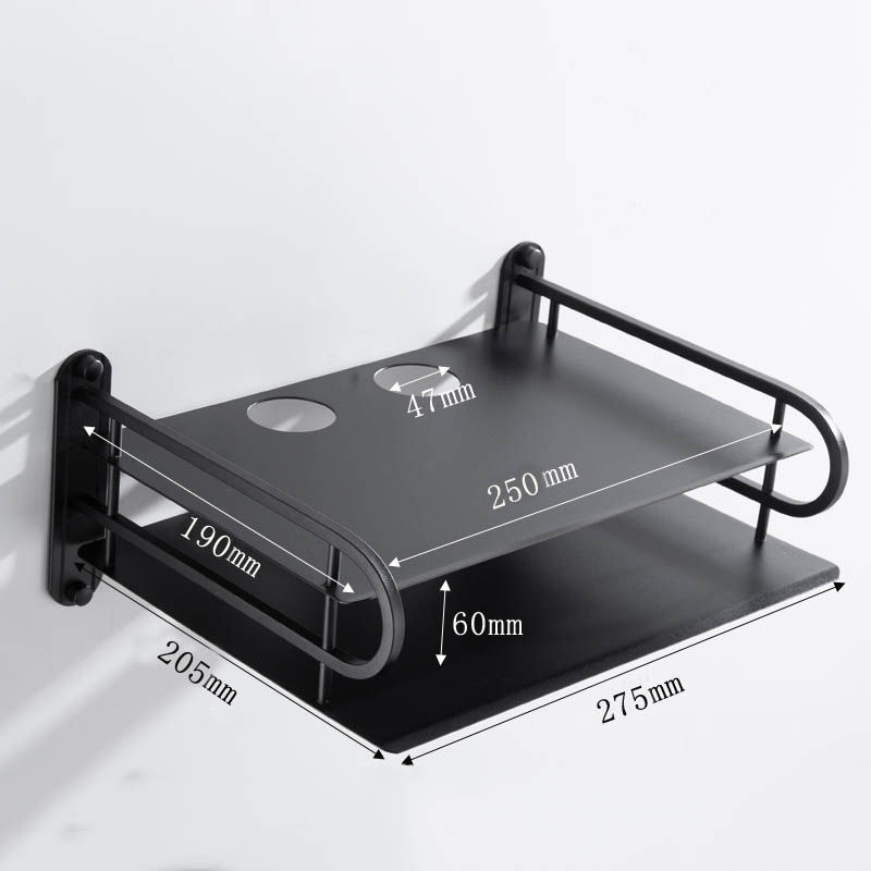 black metal wireless wifi router storage box telephone storage rack wall mounting tv set top box holder rack metal shelf bracket