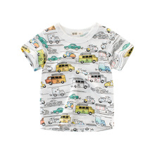 T-Shirts Clothing Tops Short-Sleeve  Print Girls Boys Kids Toddler Cartoon  Cotton Children  Summer Car Machine Infant 2-8 Years t shirts kids clothing tops boys girls toddler long sleeve baby cartoon children cotton summer print car machine tees