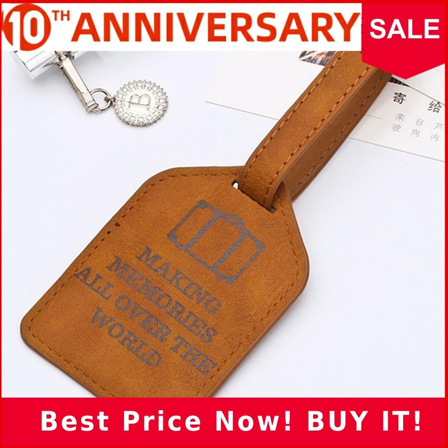 Personalized Leather Suitcase Luggage Tag Label Bag Pendant Handbag Portable Travel Accessories Name ID Address Tags LT02A