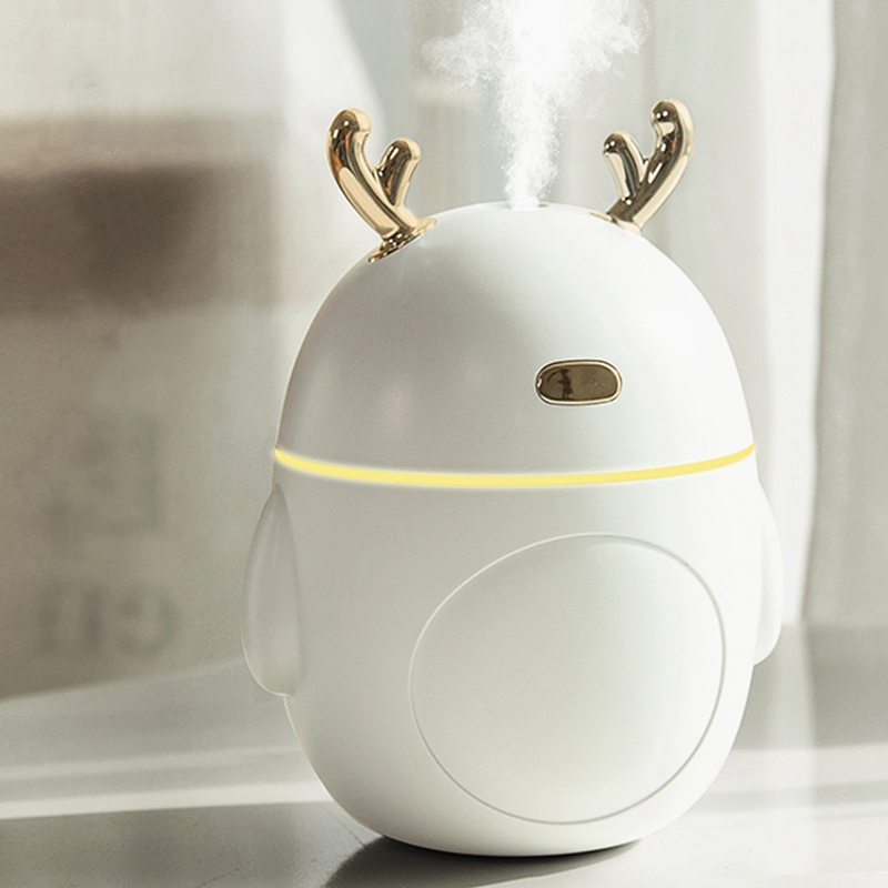 Lovely Deer Air Humidifier USB Ultrasonic Cool Mist Maker Fogger LED Light Mini Aroma Diffuser Essential Oil Humificador|Humidifiers| |  - title=