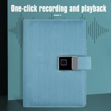 High-tech Fingerprint Lock Unlock Private Leather Notebook Loose Leaf Binding Paper Wirless Charging Notepad