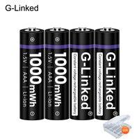 Batería de iones de litio recargable para termómetro, Pila de Iones de litio con conexión G de 1,5 V AAA, 3A, 1,5 V, 1000mWh