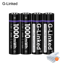 G-Linked 1.5V AAA Li ion Battery 3A 1.5V 1000mWh Lithium Li-ion Rechargeable Battery Bateria Batteries for Thermometer