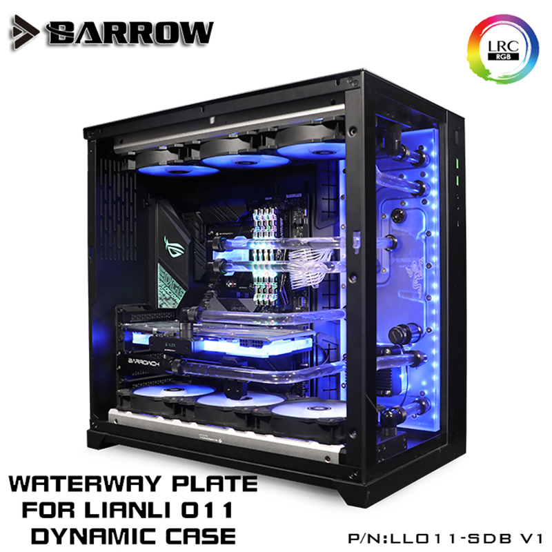 Купить с кэшбэком Barrow Acrylic Board as Water Channel use for LIAN LI O11 Dynamic Computer Case for Both CPU and GPU Block RGB 5V 3PIN Waterway