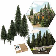 S0804 40 pçs modelo de cenário em miniatura pinheiros verdes profundos pinheiros para ho o n z escala modelo layout ferroviário