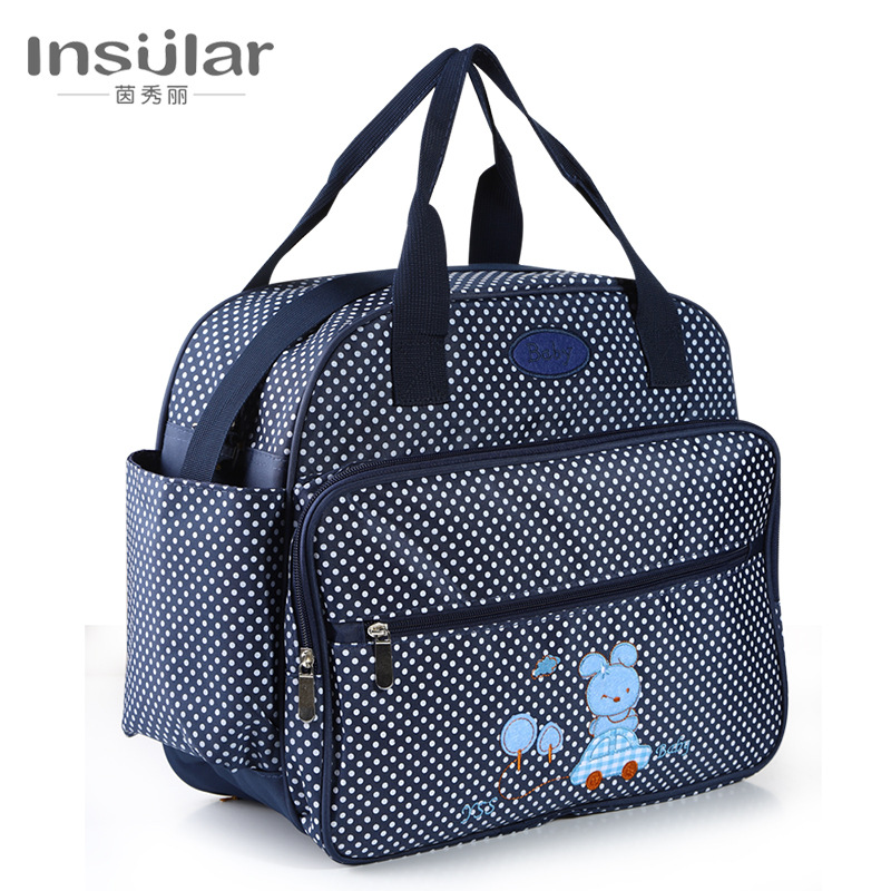 Insular Printed Fashion Shoulder Mom And Baby Diaper Bag Multi-functional Large-Volume Diaper Bag Maternity Package Cross Border