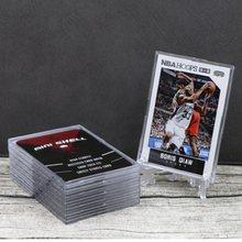2/5/10 pces placa cartões de jogo titular exibição para tcg cartão de negociação mágico jogo coleção futebol basquete estrela cartões protetor