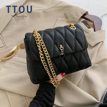 Элегантная женская сумка на плечо с цепочкой модная клетчатая