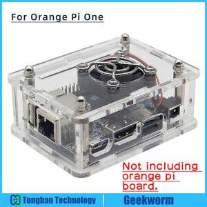 Orange Pi One Acrylic Case + Cooling Fan + Copper Heatsink Kits for Orange Pi One