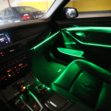 For BMW 1 2 3 4 5 6 7 series Car neon ambient light decorative lighting 9-color automatic conversion Universal 2010-2017
