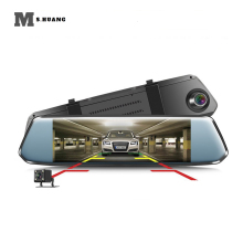 Car Dvr 7.0 Inch Touch Dash Cam FHD 1080P Video Recorder Rearview Mirror DVRs With Rear View Camera Auto Registrator цена