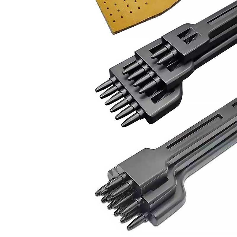 4mm 2/4/6 diş deri el sanatları araçları delik zımba bağlama dikiş aracı el dikişli yüksek Gradewhite çelik Linger Hiratsuka 3 adet