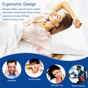 Image 4 - Dropshipping Contour Memory Foam Pillow Orthopedic Sleeping Pillows Ergonomic Cervical Pillow for Neck Pain Side Sleepers