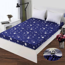 1 pc 100% Polyester Sheet Mattress Cover Bed Sheet Printing Fitted Sheet Four Corners With Elastic