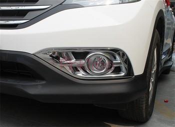 Chrome Front Fog Light Lamp Cover Trim For Honda CR-V CRV 2012 2013 2014  ABS  Car Styling Accessory