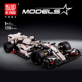 Mould King 13117 F1 Super Race Car Model  Techinic City Champion Building Blocks Bricks Educational Toy Gift