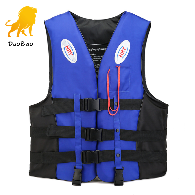 Life Vest With Whistle Swimming Boating Drifting Water Sports Man Kids Jacket Polyester Big Buoyancy Safety Life Jacket S-3XL