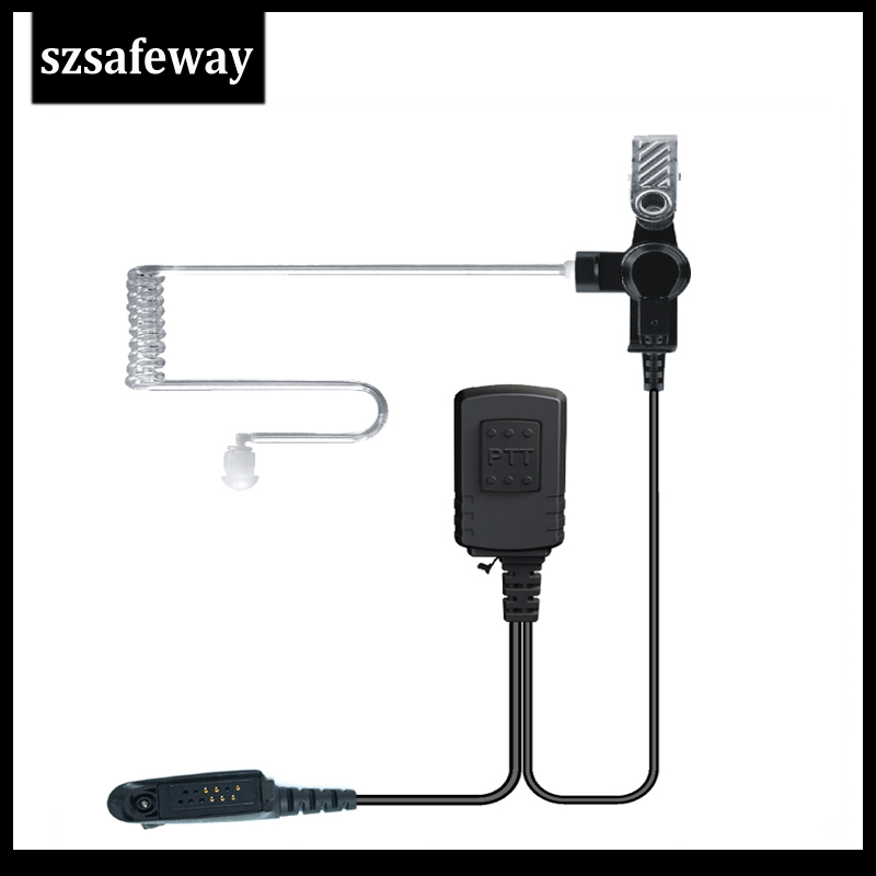 Waterproof IP54 2 Wire Surveillance Kit Earpiece For Two Way Radio Motorola GP328 PRO5150