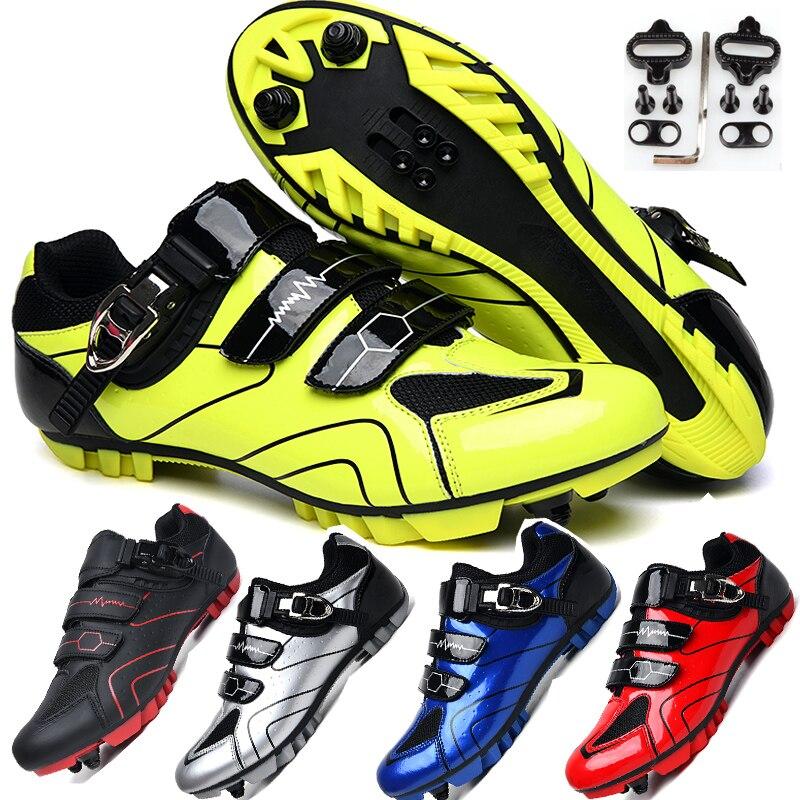Zapatos de ciclismo MTB para hombre, calzado deportivo para deportes al aire libre, zapatos de bicicleta de carrera profesional con bloqueo automático, zapatillas de ciclismo