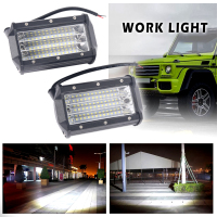 2pcs 72W Auto Car Led Bar Work Light For Flood Offroad Spotlights Tractor Spot Light 12V 24V Off Road Truck 4x4 Boat SUV Lamp