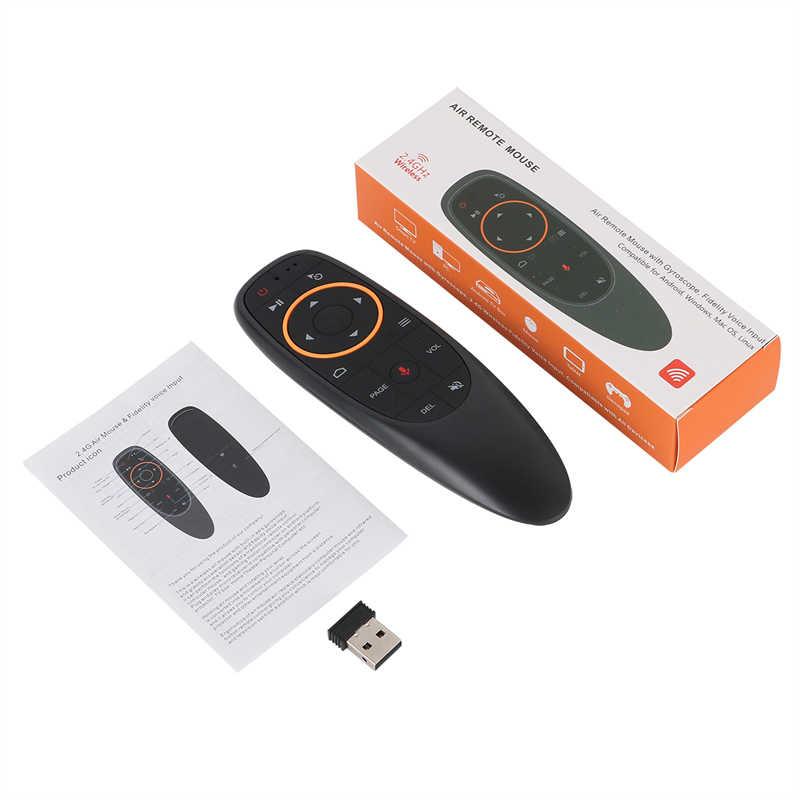G10 Suara Remote Control 2.4G Hz Nirkabel Udara Mouse Mikrofon Giroskop IR Belajar untuk Android TV Box T9 H96 Max x96 Mini