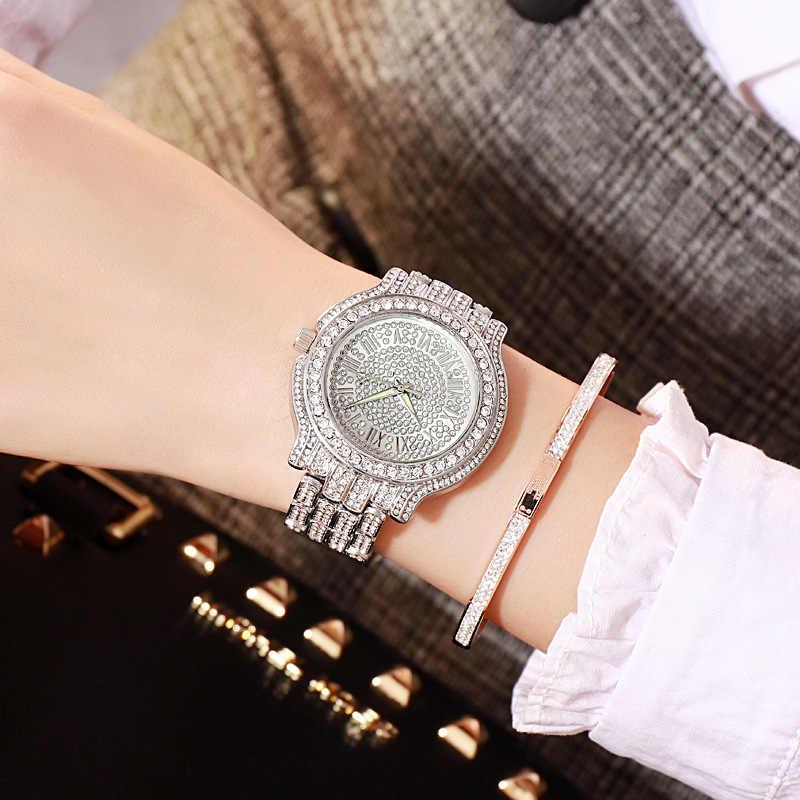 Peran Jam Tangan Pria Top Brand Mewah Missfox Bersifat Rolexable Tahan Air Pria Menonton Pria Menonton Jam Penuh Diamond Hublo Unisex Kuarsa Watch With Box