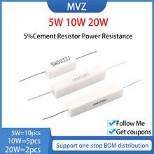 5W 10W 20W 5% resistenza di cemento resistenza di potenza 0.1R 0.15 0.2 0.22 0.25 R 0.3 0.33 0.39 0.47Ohm 0.5 0.56 0.6 0.68 0.75 0.82 Ohm