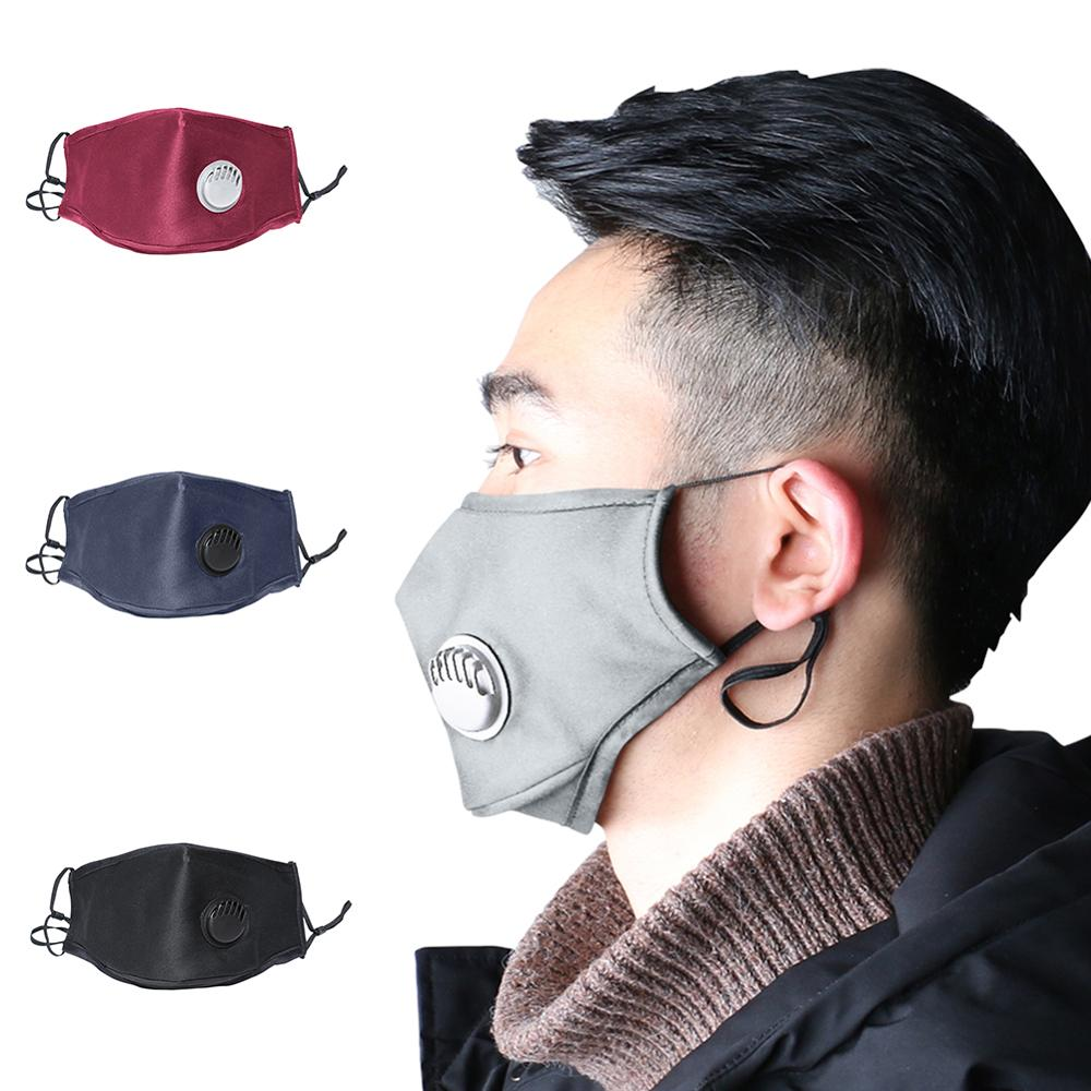 1Pcs 5-Layers PM2.5 Activated Carbon Filter Respirator Anti-Bacteria Washable Virus Mouth Face Masks PK N95 FFP3 Safety Mask