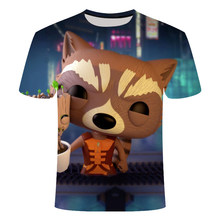 New treeman T-shirt groot/raccoon / 3Dt print harajuku Hiphop comics 0 collar T-shirt, Asian size s-6xl(China)
